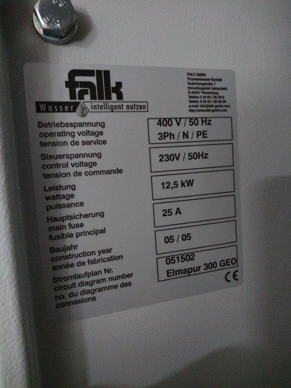 Demiwatersystem / Reinstwasseranlage Falk RO 1000