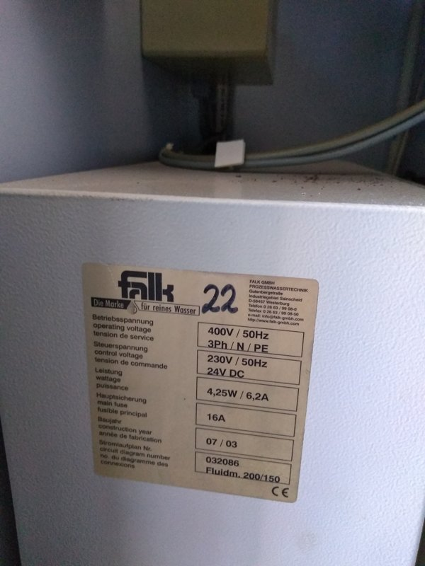 Fluidmaster 150 Abwasseranlage/sewage system / Technotrans / Falk Fluidmaster 150